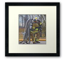 Carrying the Weight Framed Print