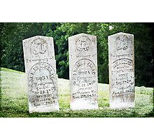 Perry Family Gravestones Photographic Print