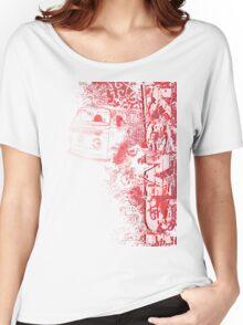 Volkswagen Kombi Tee shirt - Grunge Red Women's Relaxed Fit T-Shirt