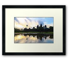 Sunrise on Angkor Wat - Angkor, Cambodia. Framed Print
