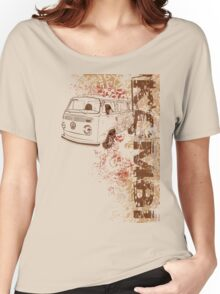 Volkswagen Kombi Tee shirt - Grunge white Women's Relaxed Fit T-Shirt