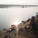 River Narmada at Maheshwar by Vivek Bakshi