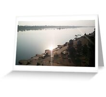 River Narmada at Maheshwar Greeting Card