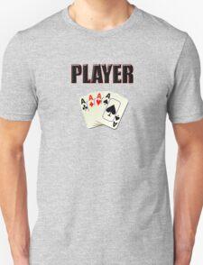Player T-Shirt - Poker Card Gambling Tee T-Shirt