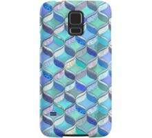 Patchwork Ribbon Ogee Pattern in Blues & Greens Samsung Galaxy Case/Skin
