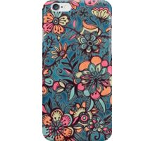 Sweet Spring Floral - melon pink, butterscotch & teal iPhone Case/Skin