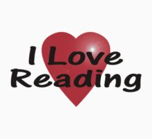 I Love Reading Sticker Bookworm T-Shirt Bedspread Story Book by deanworld