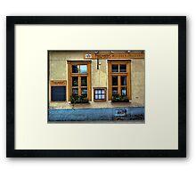 street cafe. vienna, austria Framed Print