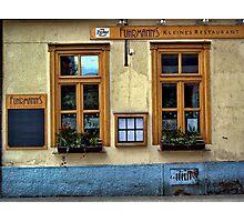 street cafe. vienna, austria Photographic Print