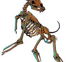 Satyr Skeleton by Maxine Penders