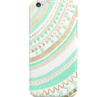 Mint + Gold Tribal iPhone Case/Skin