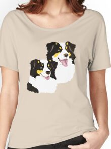 "Black Tri Aussie ""Pair to draw to"" Women's Relaxed Fit T-Shirt"
