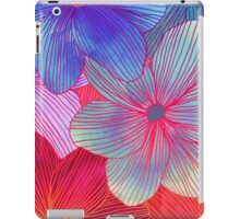 Between the Lines 2 - tropical flowers in purple, pink, blue & orange iPad Case/Skin