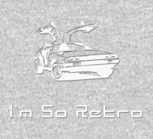 I'm So Retro - 80s Computer Game - Back to Future T-Shirt One Piece - Short Sleeve