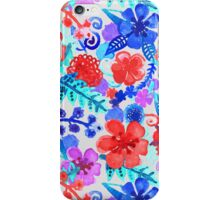Fresh Watercolor Floral Pattern II iPhone Case/Skin