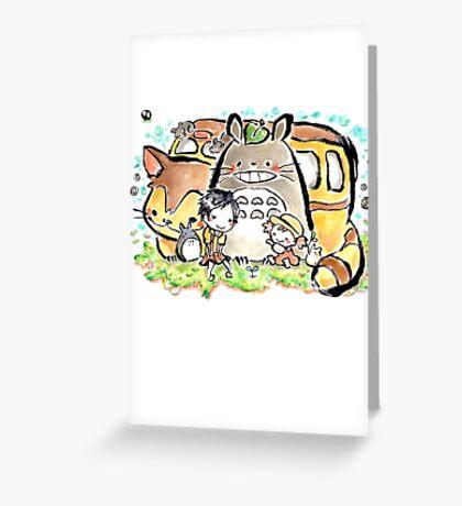 Totoro Greeting Card