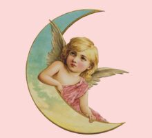 Angel and the crescent  moon Kids Tee