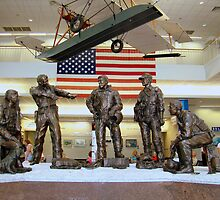 National Museum Of Naval Aviation Statues Of The Past by Wanda Raines