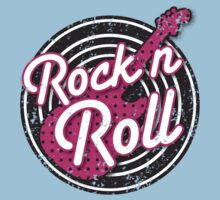 Rock n Roll with punk guitar distressed Kids Clothes