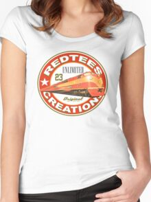 redtees express train Women's Fitted Scoop T-Shirt