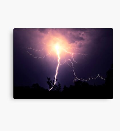 Electrical Explosion  Canvas Print