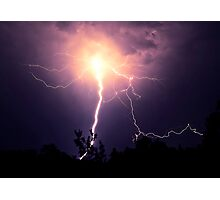 Electrical Explosion  Photographic Print