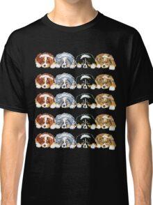 Australian Shepherd Puppies all 4 colors Classic T-Shirt