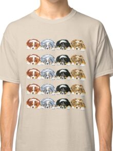 Australian Shepherd Puppies all 4 colors Classic T-Shirt