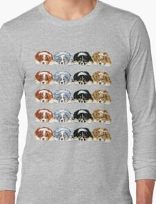 Australian Shepherd Puppies all 4 colors Long Sleeve T-Shirt
