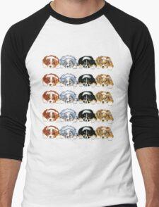 Australian Shepherd Puppies all 4 colors Men's Baseball ¾ T-Shirt
