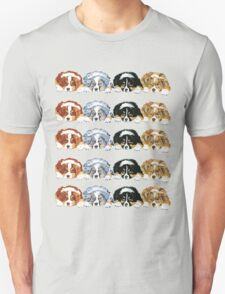 Australian Shepherd Puppies all 4 colors Unisex T-Shirt