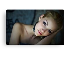 Sensual and Charming loving girl in art portrait Canvas Print