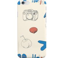 Summer holiday seamless ornament pattern with footprints in sand. Vector illustration. iPhone Case/Skin