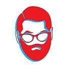 3D BEARD with glasses by jazzydevil