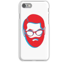 3D BEARD with glasses iPhone Case/Skin