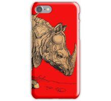 Vintage Rhinoceros Illustration iPhone Case/Skin