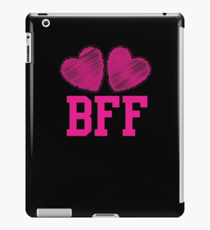 BFF with cute love hearts iPad Case/Skin