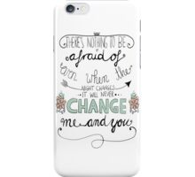 Night Changes iPhone Case/Skin