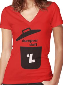 dumped doff Women's Fitted V-Neck T-Shirt