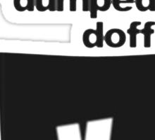 dumped doff Sticker