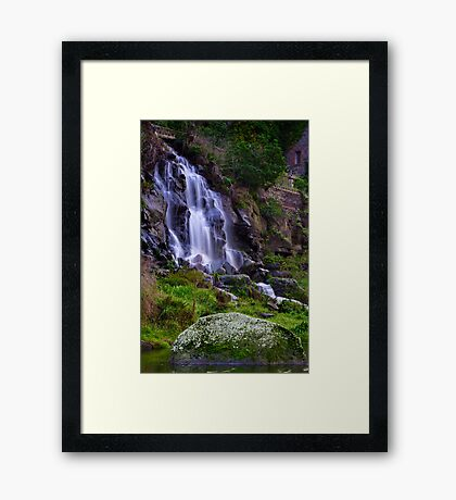 """Falling By The Mill"" Framed Print"