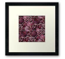 Pink Flower Pattern Framed Print