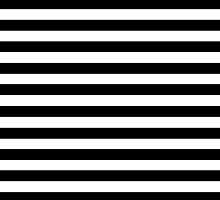 Horizontal Black and White Stripe Bedspread Duvet Cover Pillow by deanworld