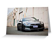 Nissan R35 GTR Greeting Card