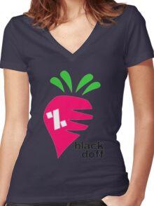 carrot Women's Fitted V-Neck T-Shirt