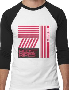 red stripped Men's Baseball ¾ T-Shirt