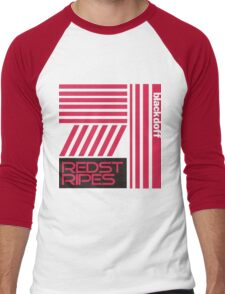 red stripped Men's Baseball ¾ T-Shirt