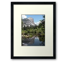 Mirror Lake Reflection of Mt. Watkins Framed Print