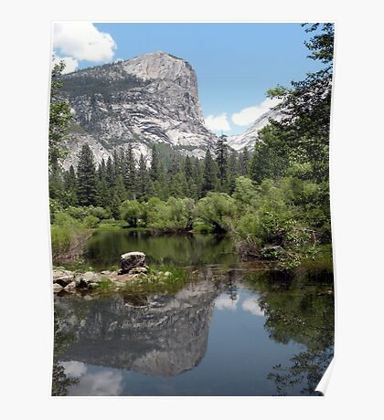Mirror Lake Reflection of Mt. Watkins Poster