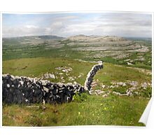 Wall in The Burren Poster